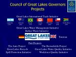 council of great lakes governors projects