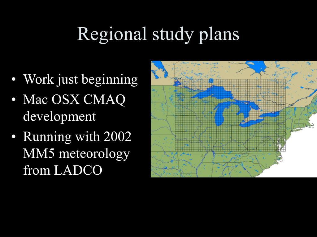 Regional study plans