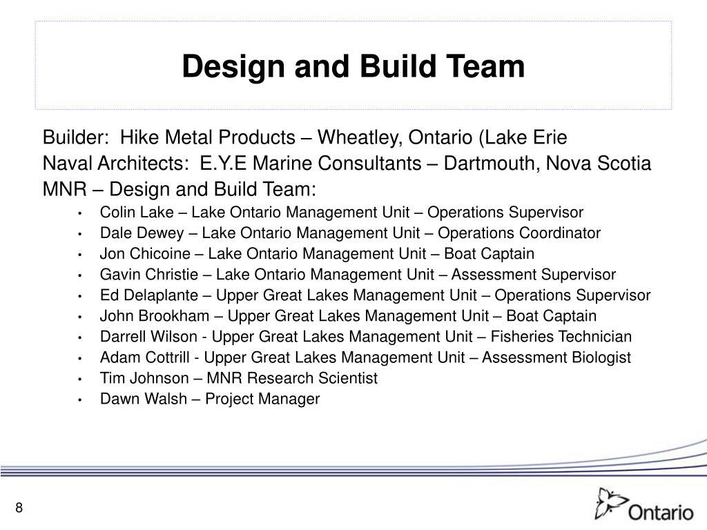 Design and Build Team
