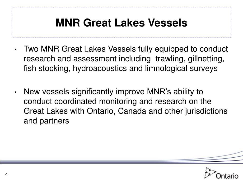 MNR Great Lakes Vessels