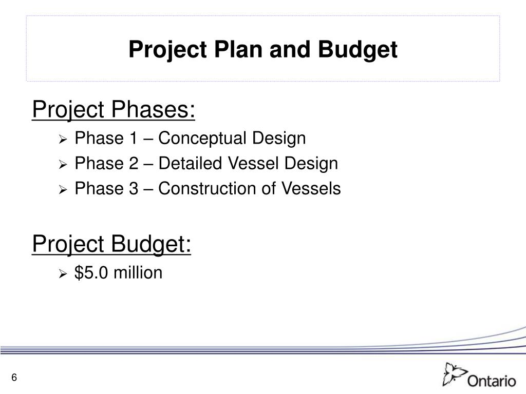 Project Plan and Budget