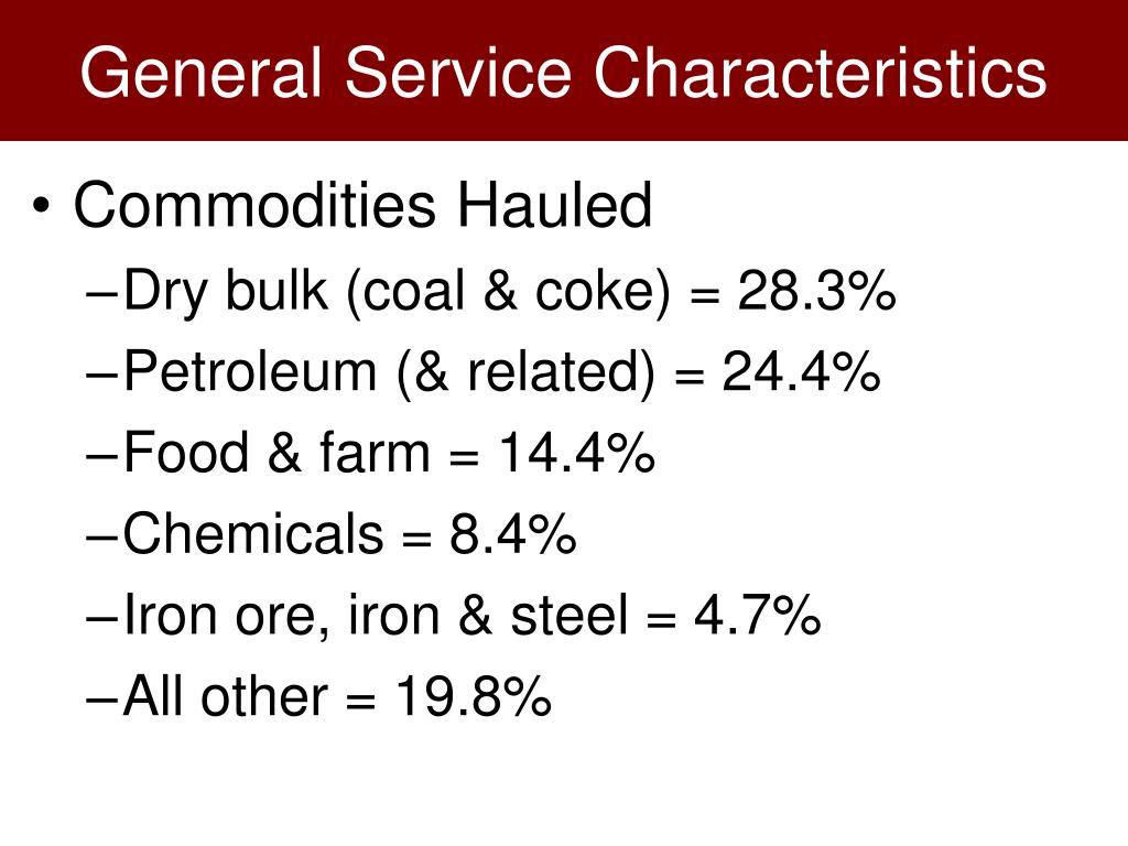 General Service Characteristics