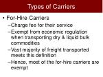 types of carriers4