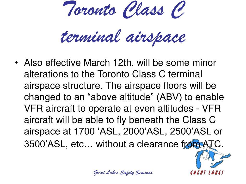 Toronto Class C