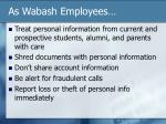 as wabash employees