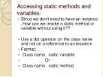 accessing static methods and variables