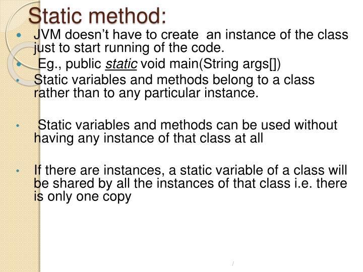 Static method: