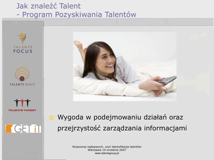 Jak znaleźć Talent