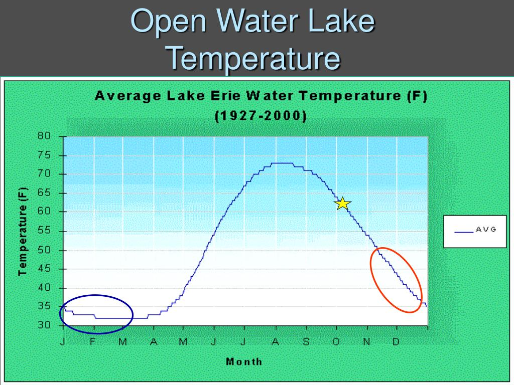 Open Water Lake Temperature