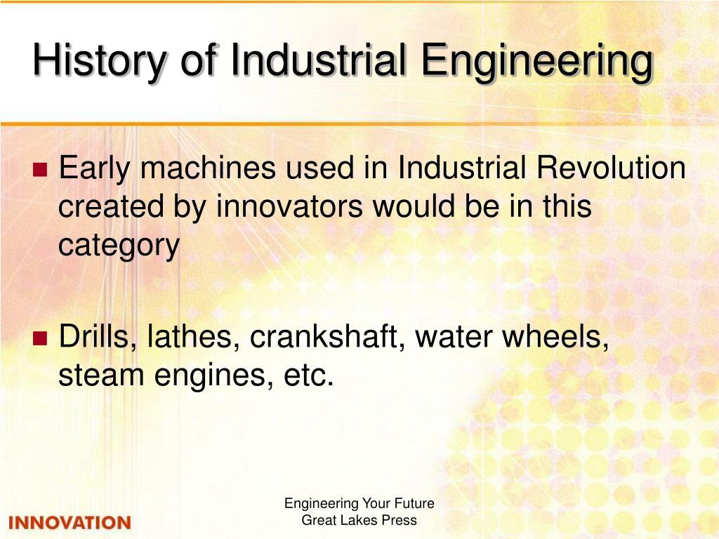 History of Industrial Engineering