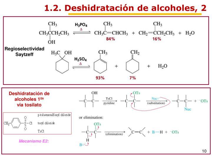 1.2. Deshidratación de alcoholes, 2