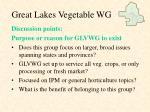 great lakes vegetable wg10