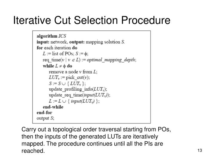 Iterative Cut Selection Procedure