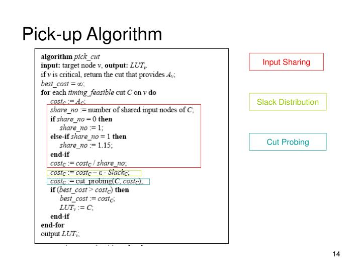 Pick-up Algorithm