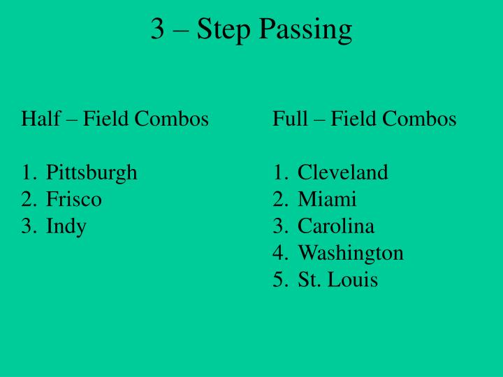 3 – Step Passing