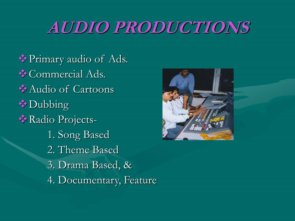 AUDIO PRODUCTIONS