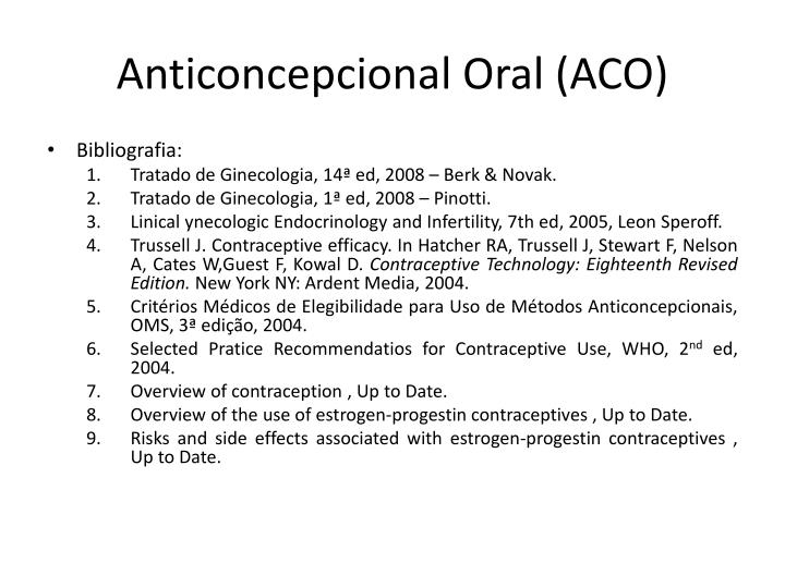 Anticoncepcional Oral (ACO)
