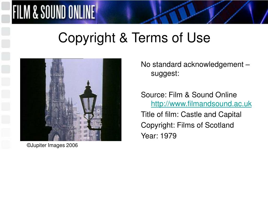 Copyright & Terms of Use