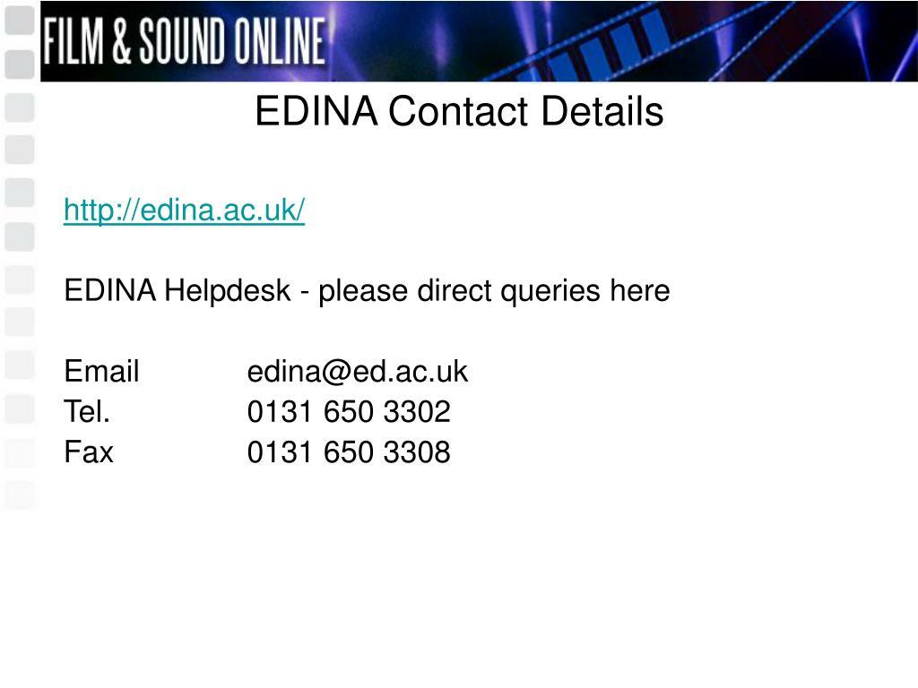 EDINA Contact Details