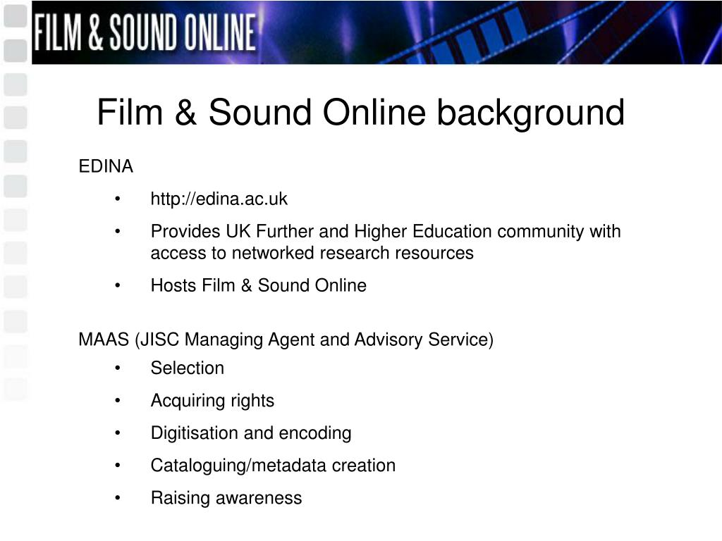 Film & Sound Online background