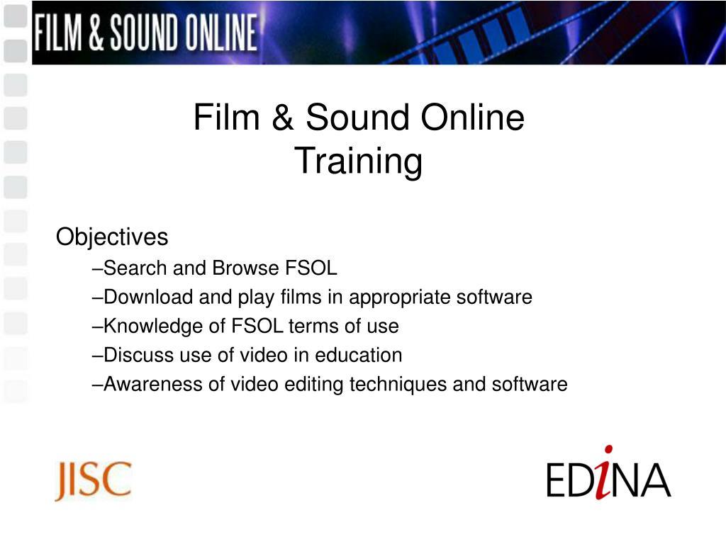 Film & Sound Online Training