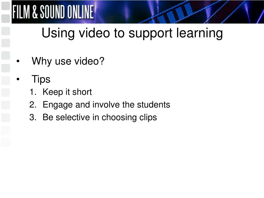 Using video to support learning
