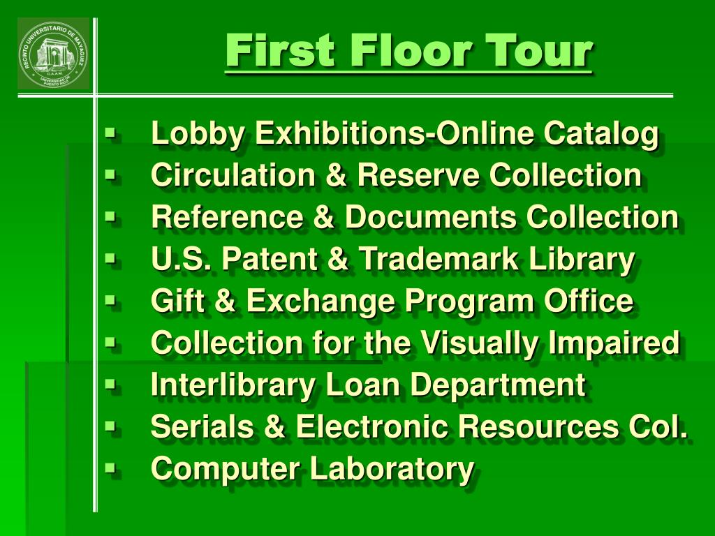 First Floor Tour