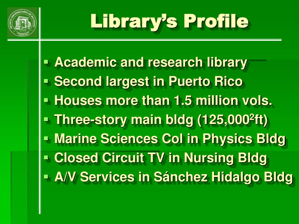 Library's Profile
