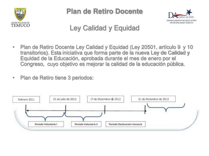 Plan de Retiro Docente