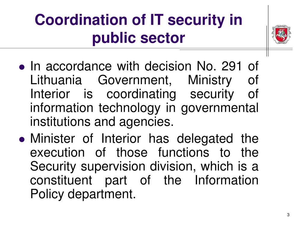 Coordination of IT security in