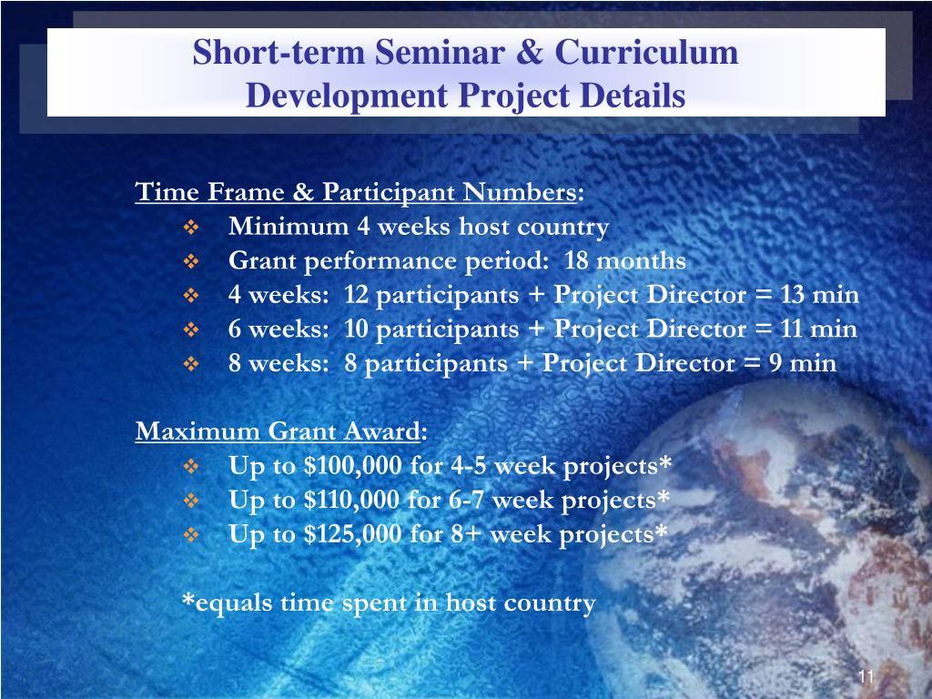 Short-term Seminar & Curriculum