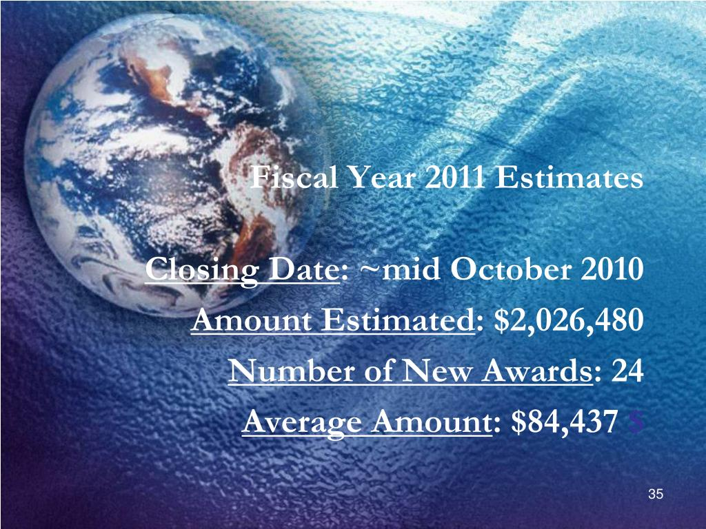 Fiscal Year 2011 Estimates