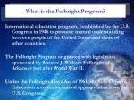 what is the fulbright program
