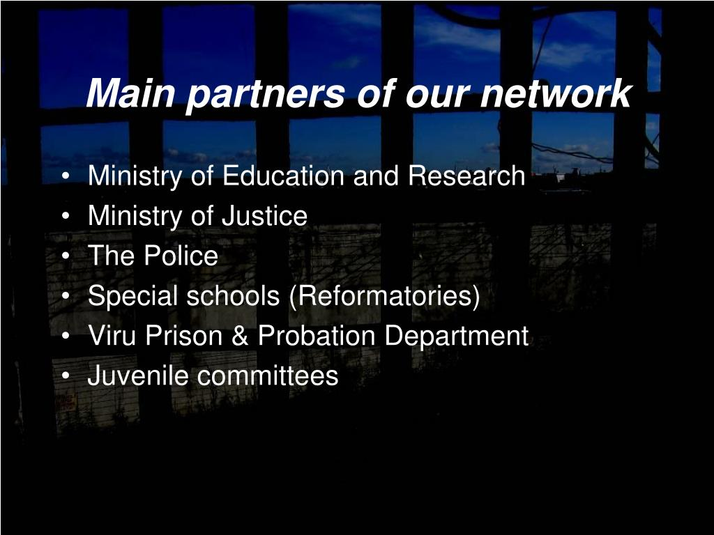 Main partners of our network
