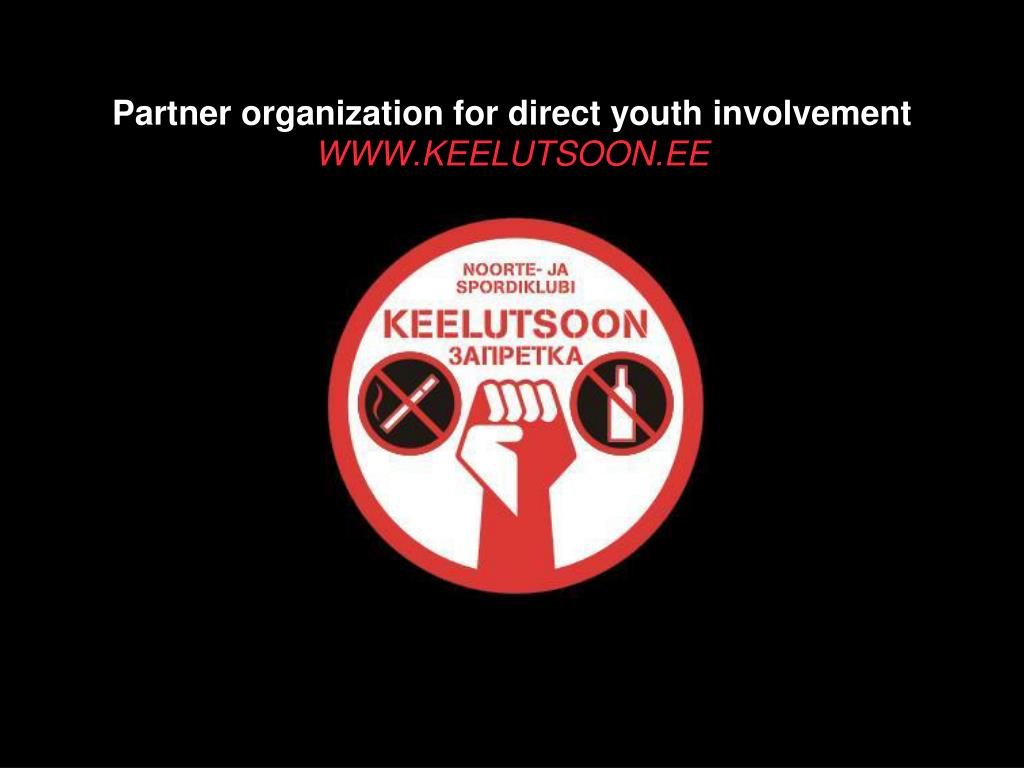 Partner organization for direct youth involvement