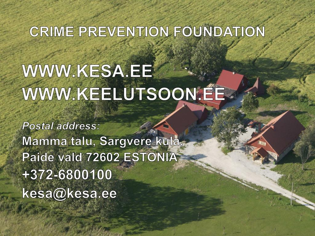 CRIME PREVENTION FOUNDATION