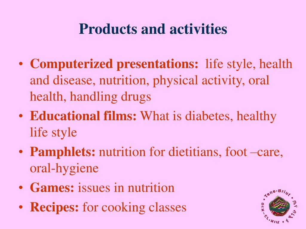 Products and activities