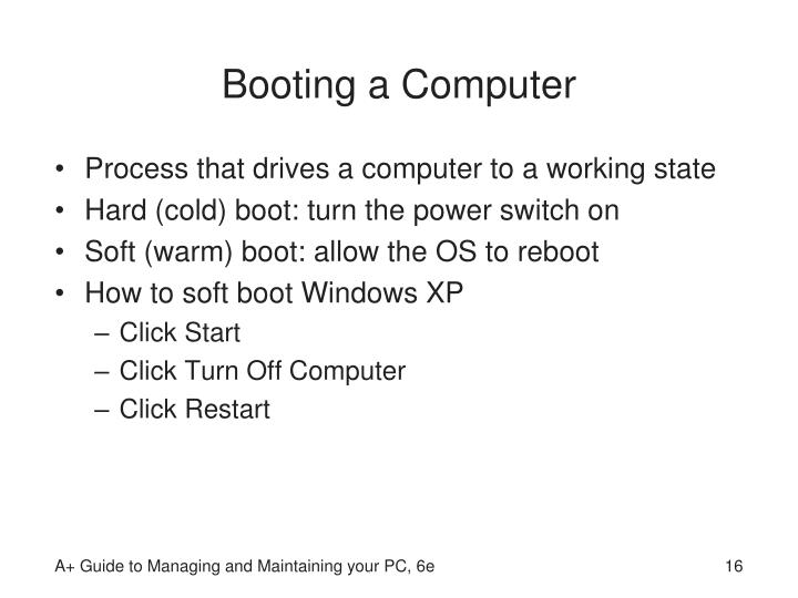 Booting a Computer