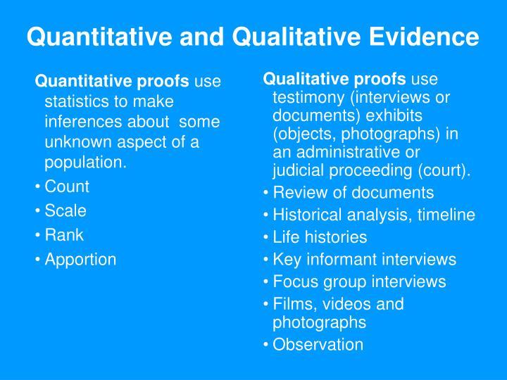 Quantitative proofs