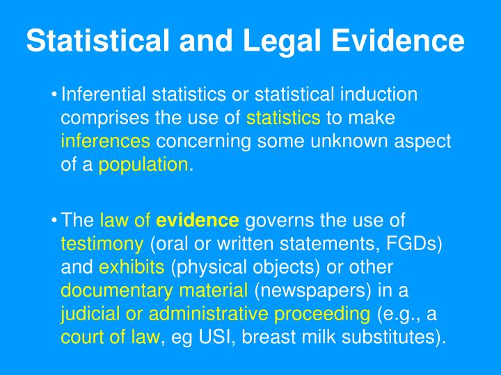 Statistical and Legal Evidence