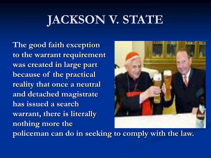 JACKSON V. STATE