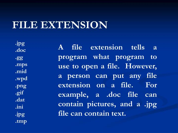FILE EXTENSION
