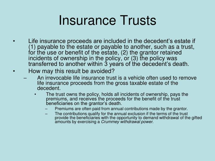Insurance Trusts