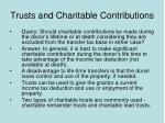 trusts and charitable contributions