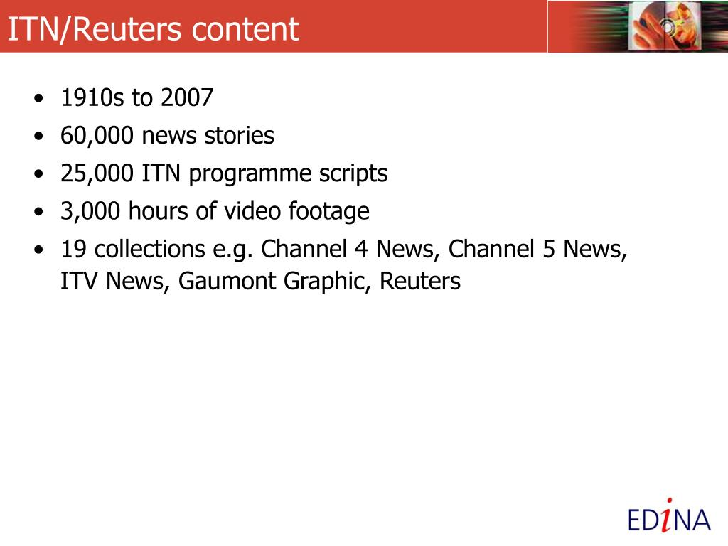 ITN/Reuters content