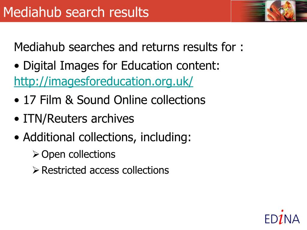 Mediahub search results