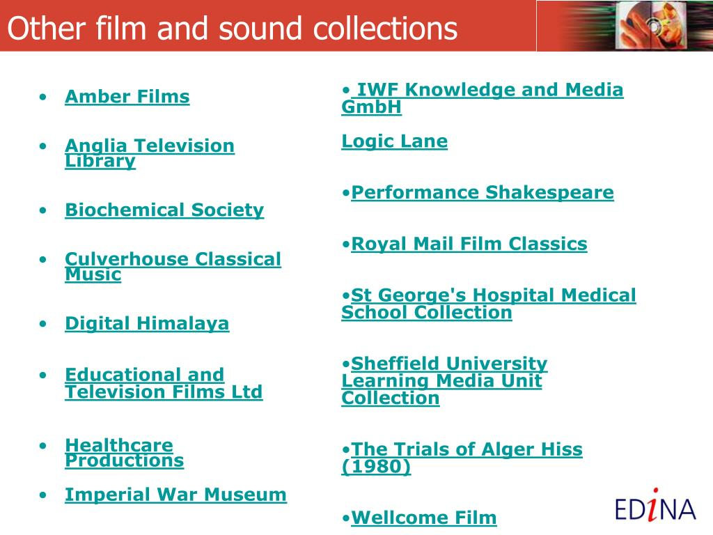 Other film and sound collections