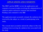 applications and consents