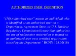 authorized user definition