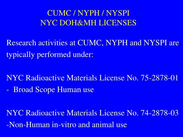 CUMC / NYPH / NYSPI